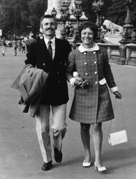Paul and Irene Mauriat walking