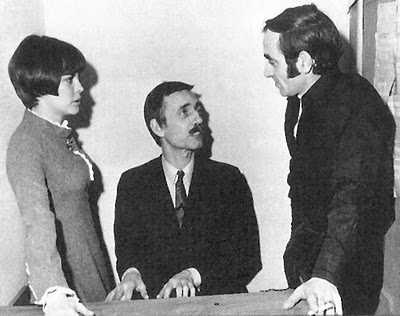 Mireille Mathieu, Paul Mauriat and Charles Aznavour in 1966